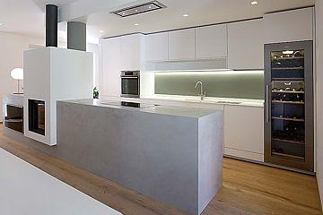 Moderne küchen mit halbinsel  Küchen
